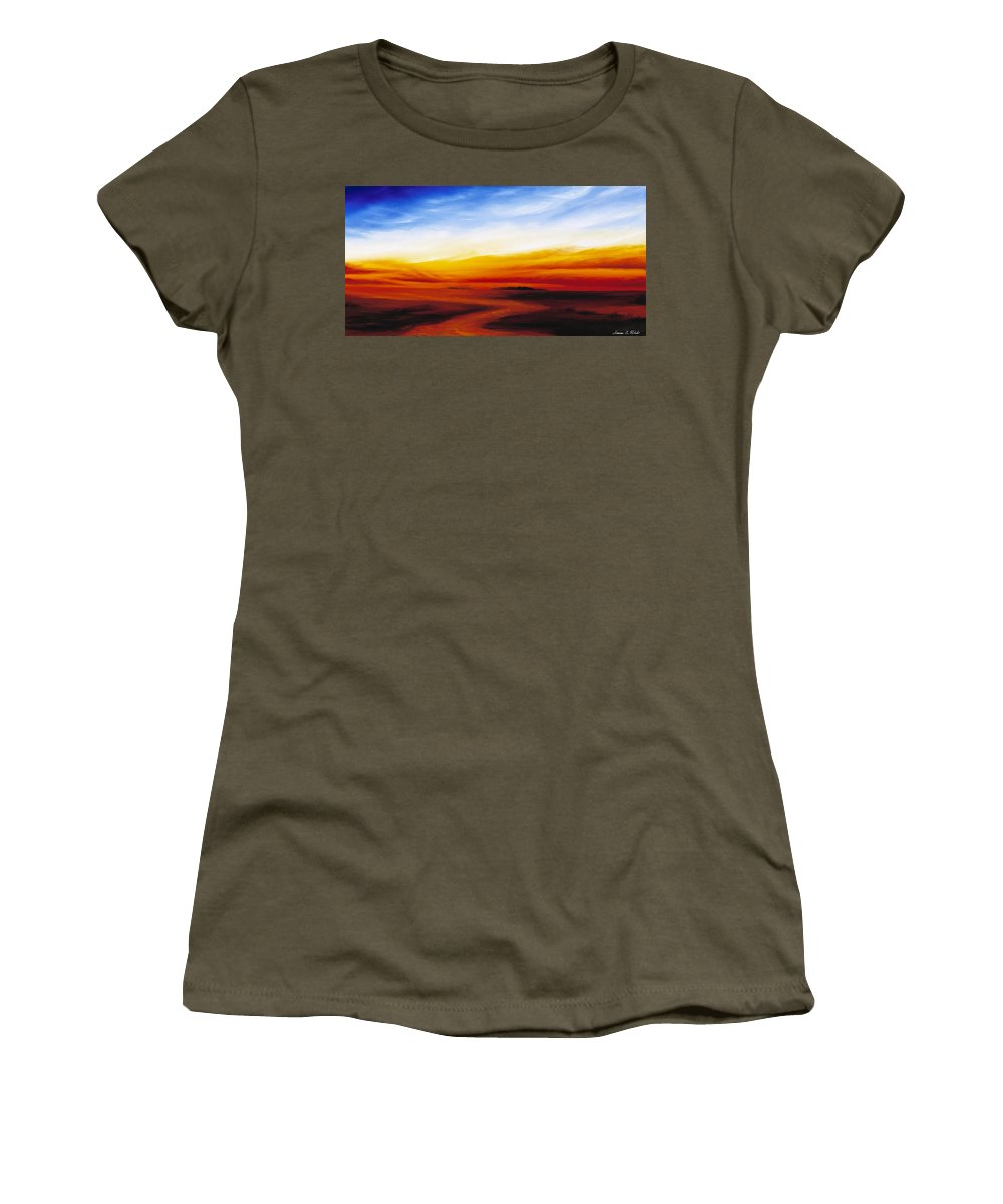 Sunrise Women's T-Shirt featuring the painting Path To Redemption by James Christopher Hill