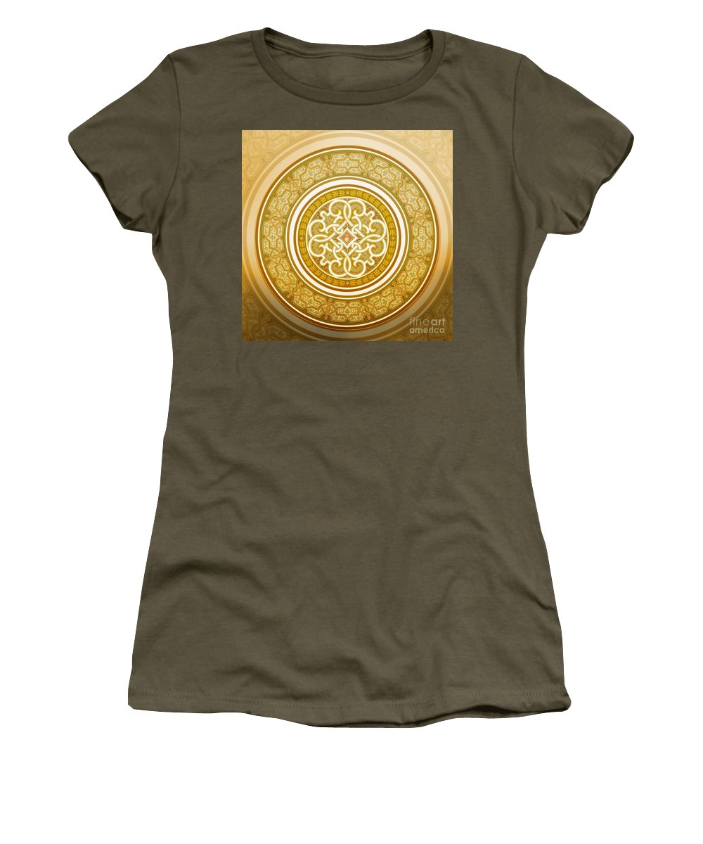 Islamic Art Women's T-Shirt featuring the painting Pattern Art 001 by Gull G