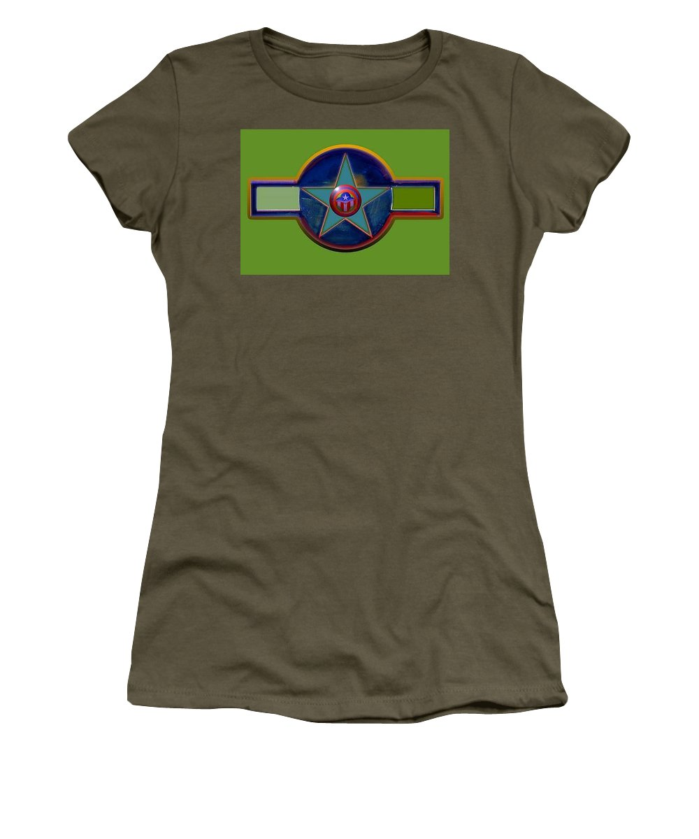 Usaaf Insignia Women's T-Shirt (Athletic Fit) featuring the digital art Pax Americana Decal by Charles Stuart