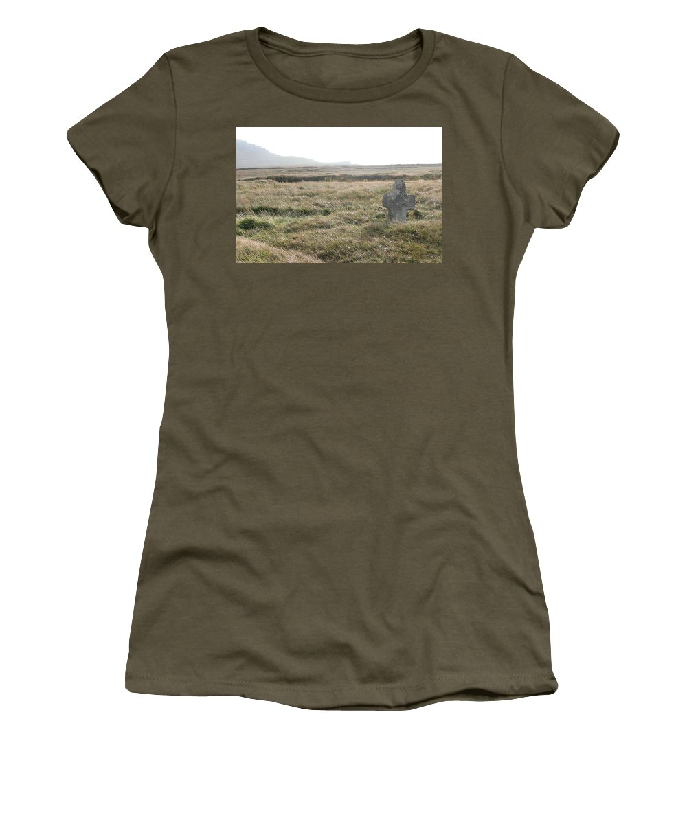 Midievil Women's T-Shirt (Athletic Fit) featuring the photograph Peaceful Rest by Kelly Mezzapelle