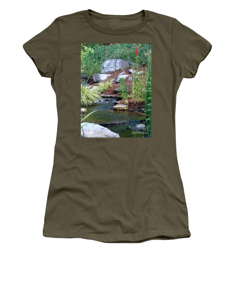 Landscape Women's T-Shirt (Athletic Fit) featuring the photograph Peaceful by Shelley Jones