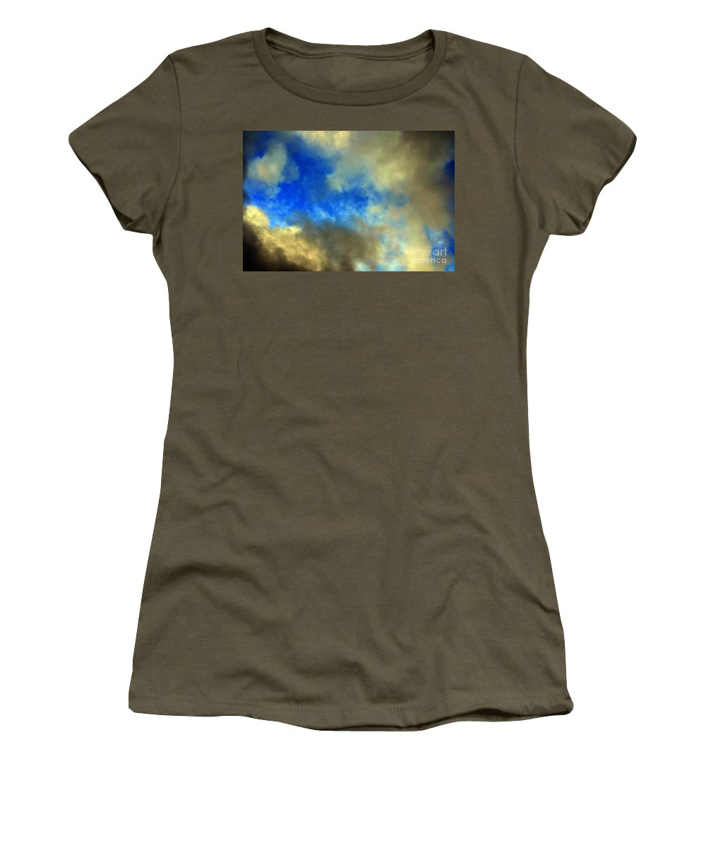 Clay Women's T-Shirt featuring the photograph Peeking Through by Clayton Bruster