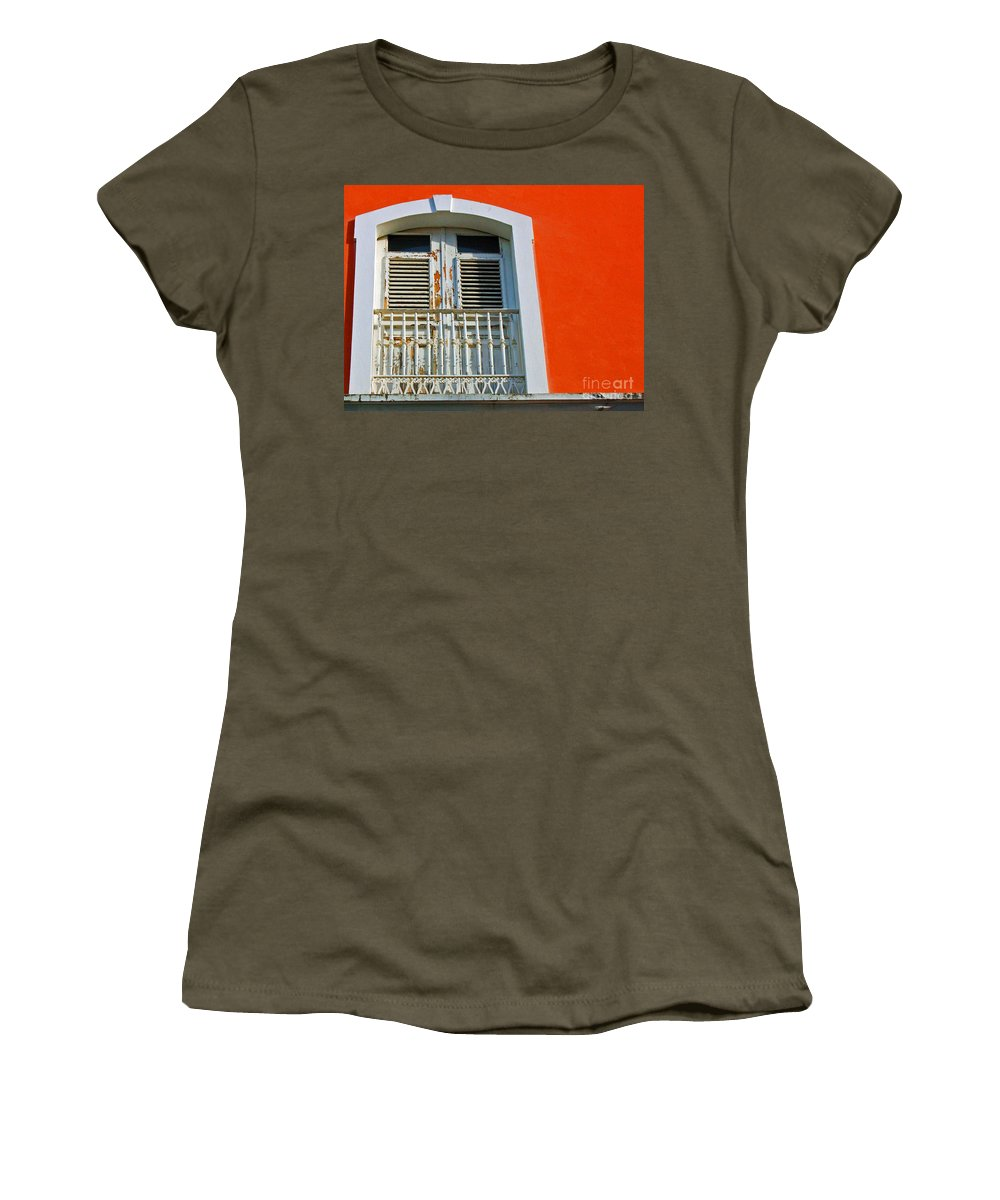 Shutters Women's T-Shirt featuring the photograph Peel An Orange by Debbi Granruth