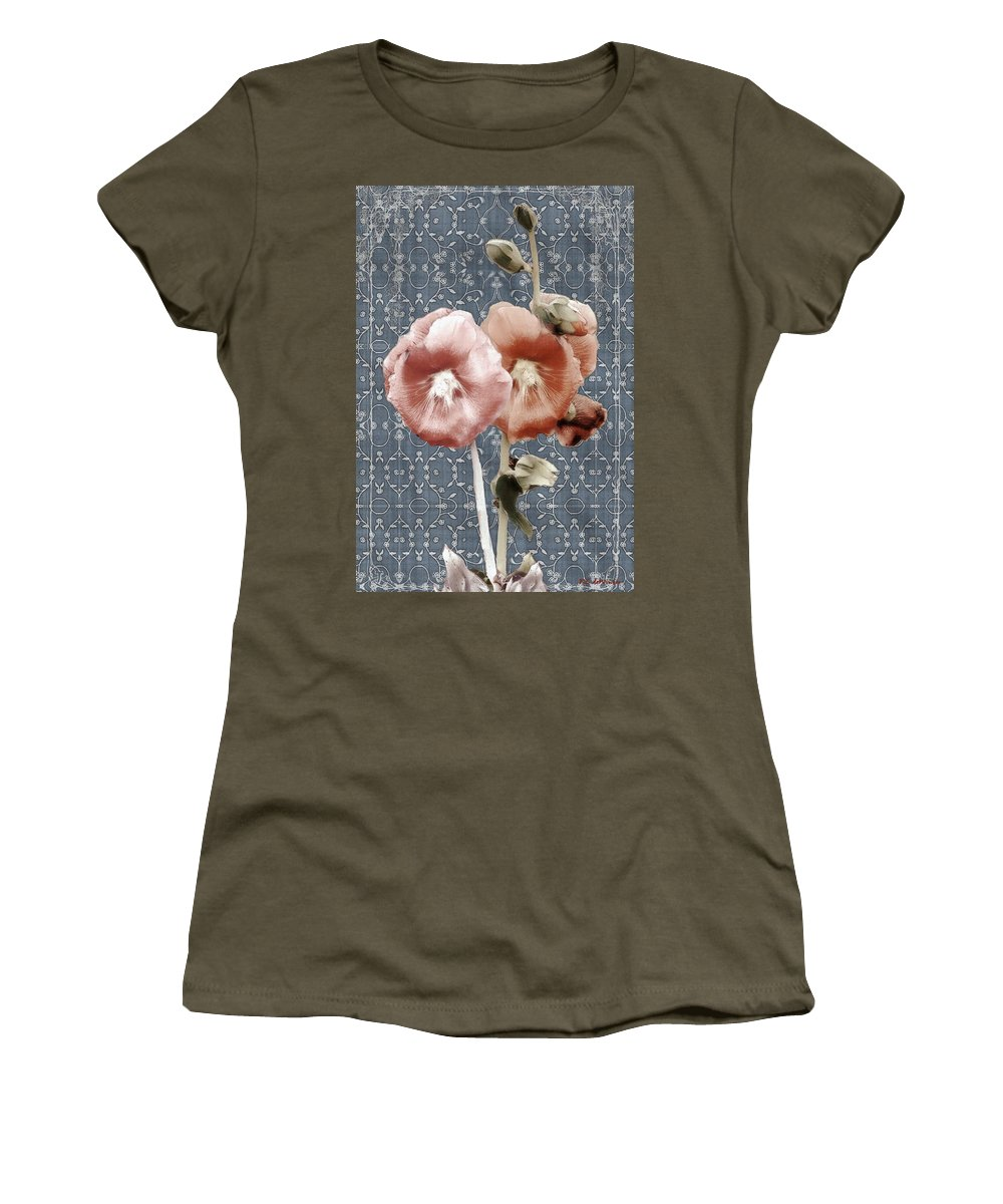 Cloth Women's T-Shirt featuring the painting Penny Postcard Bombay by RC DeWinter