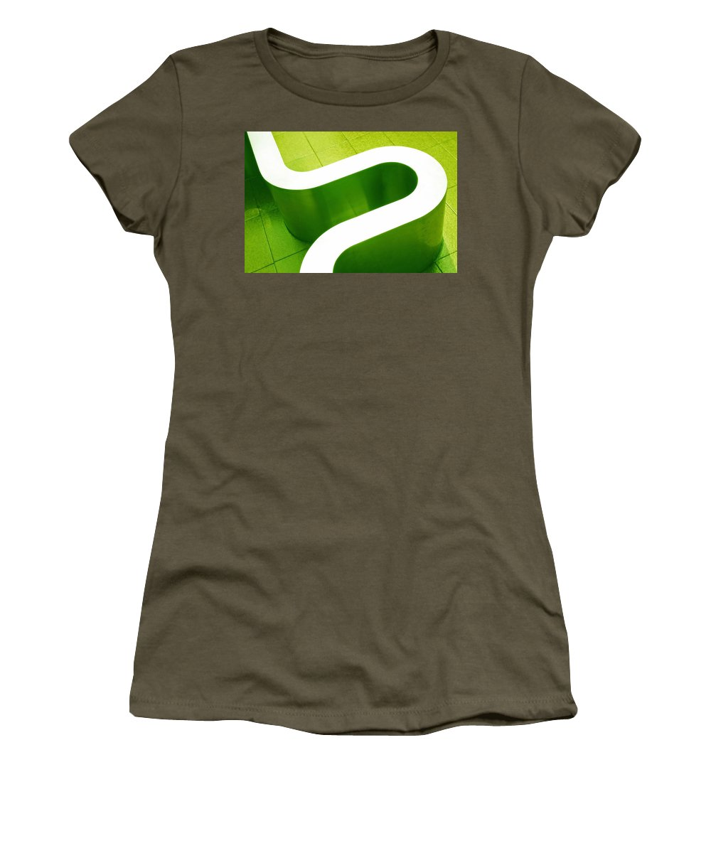 Abstract Women's T-Shirt (Athletic Fit) featuring the photograph Pharmacia by Skip Hunt