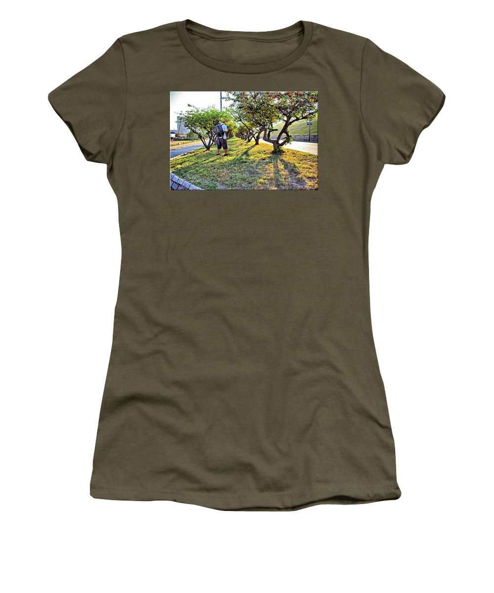 2d Women's T-Shirt (Athletic Fit) featuring the photograph Photographer by Brian Wallace