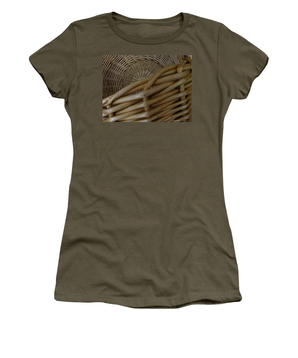 Art For The Wall...patzer Photography Women's T-Shirt (Athletic Fit) featuring the photograph Picnic Basket by Greg Patzer
