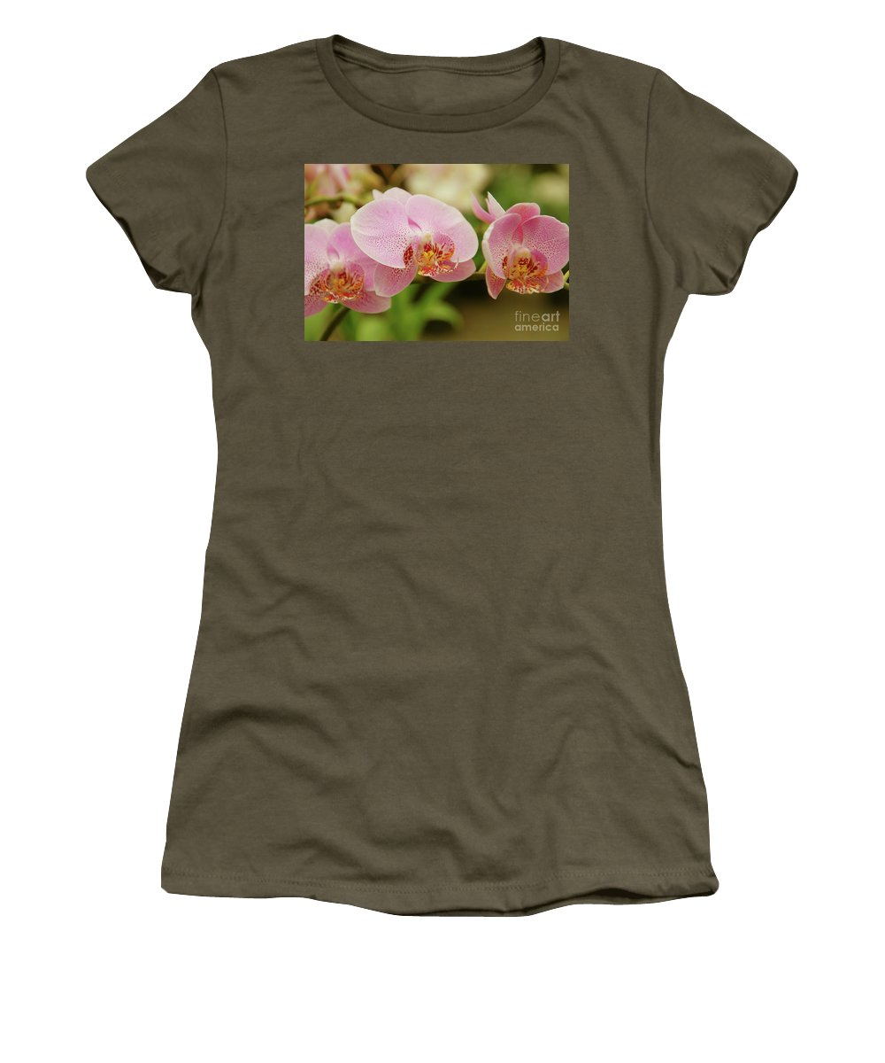 Orchids Women's T-Shirt (Athletic Fit) featuring the photograph Pink And Beautiful by Susanne Van Hulst