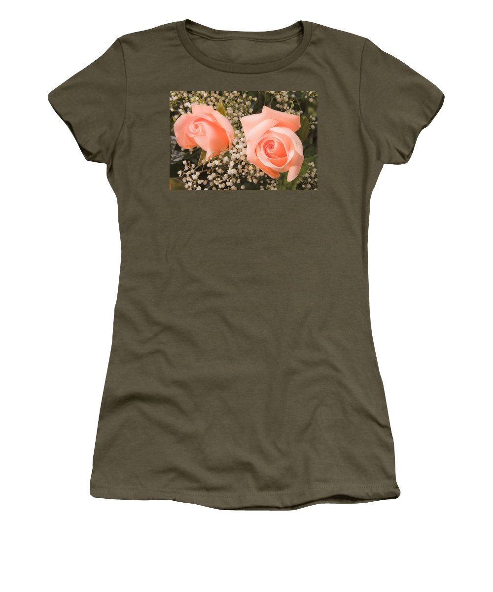 Roses Women's T-Shirt featuring the photograph Pink Roses Fine Art Photography Print by James BO Insogna