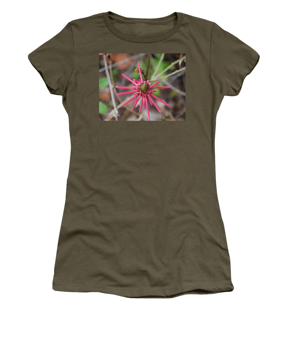 Flower Women's T-Shirt (Athletic Fit) featuring the photograph Pink Spikes by Rob Hans