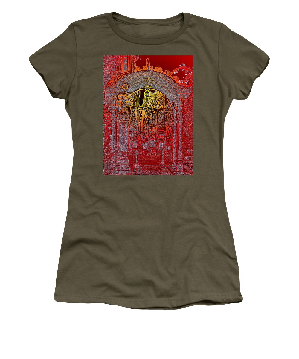 Seattle Women's T-Shirt featuring the photograph Pioneer Square Pergola 2 by Tim Allen