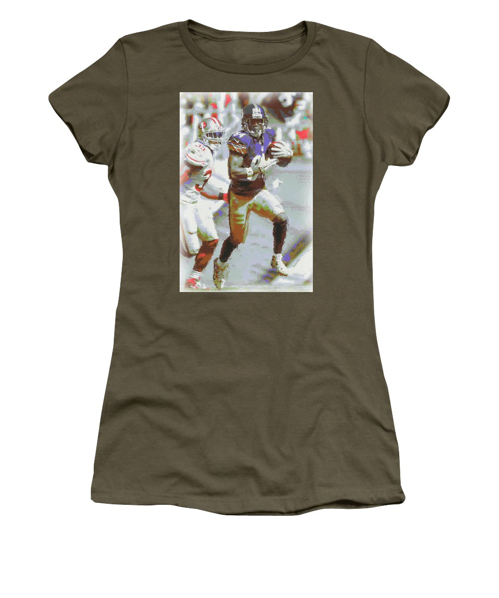 Pittsburgh Steelers Women's T-Shirt featuring the photograph Pittsburgh Steelers Antonio Brown 3 by Joe Hamilton