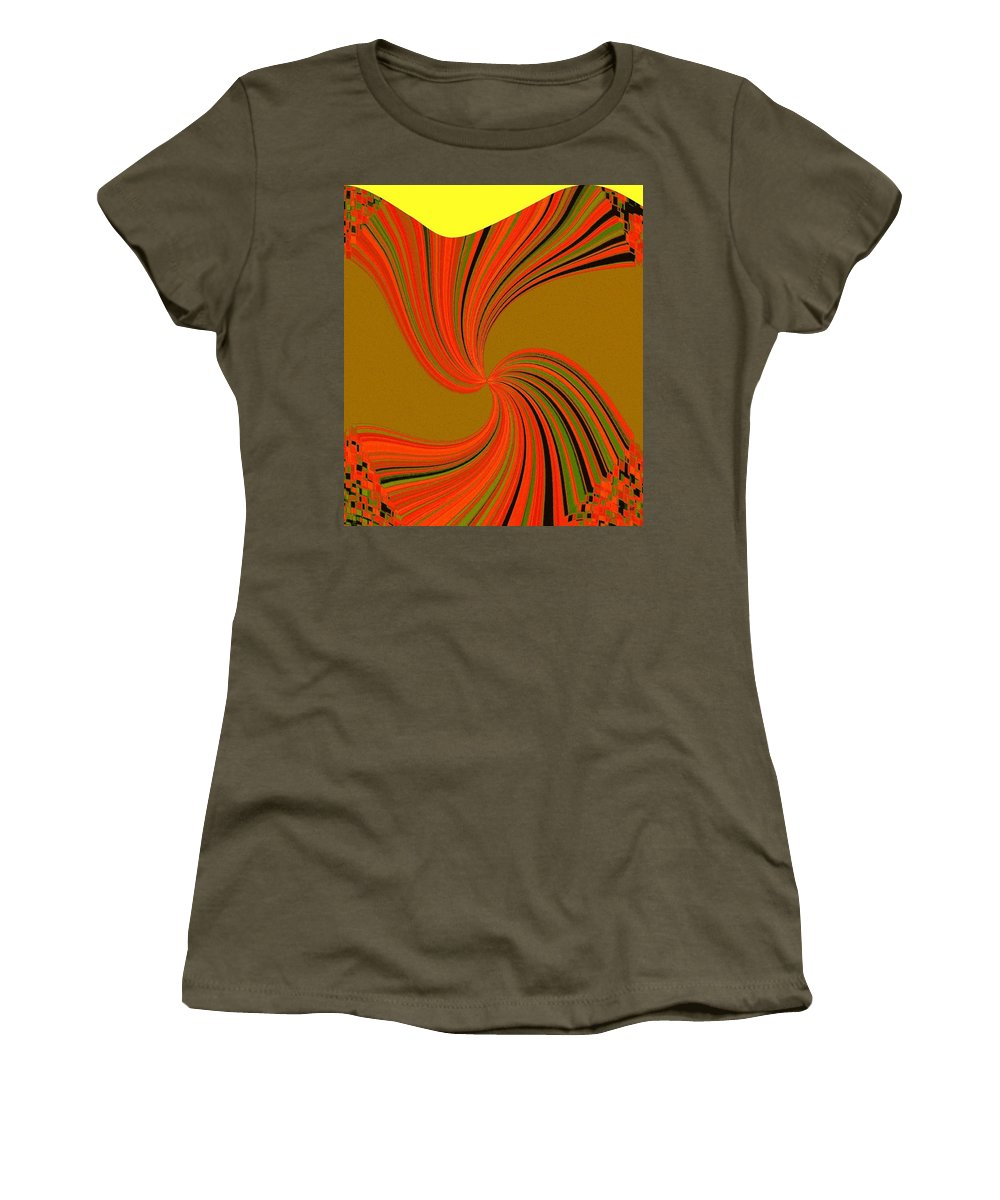 Abstract Women's T-Shirt featuring the digital art Pizzazz 34 by Will Borden