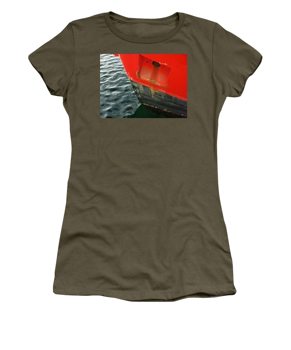 Plimsoll Line Women's T-Shirt featuring the photograph Plimsoll Line by Wayne Sherriff