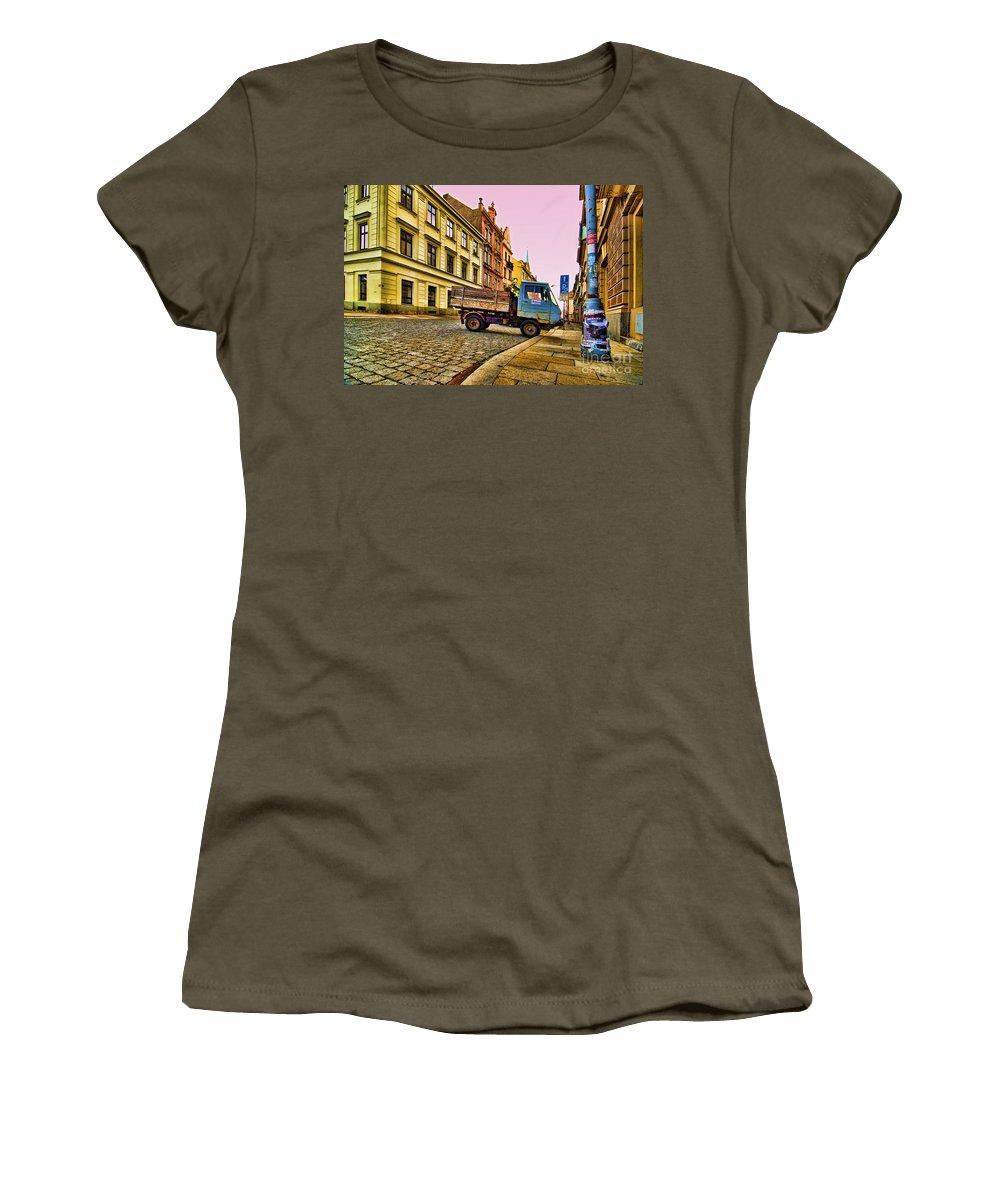 Czech Republic Women's T-Shirt featuring the photograph Plzen In Hdr Czech Republic by Sabine Jacobs