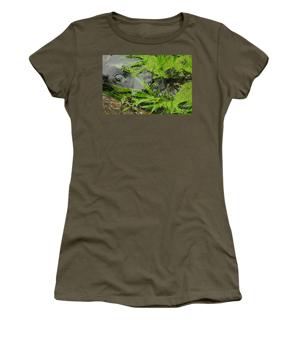 Pond Women's T-Shirt featuring the photograph Pond Abstract I by Merrimon Crawford