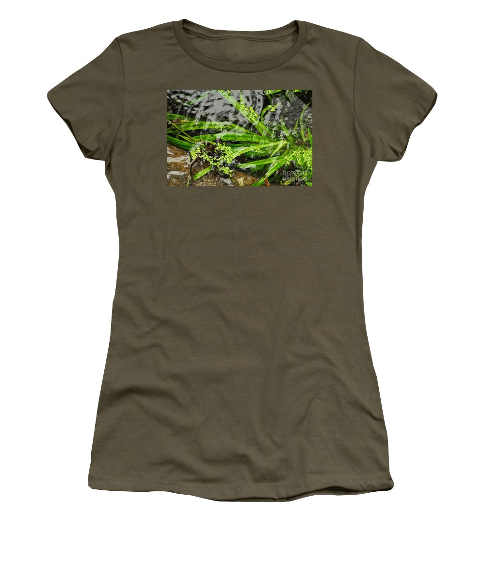 Pond Women's T-Shirt featuring the photograph Pond Abstract II by Merrimon Crawford