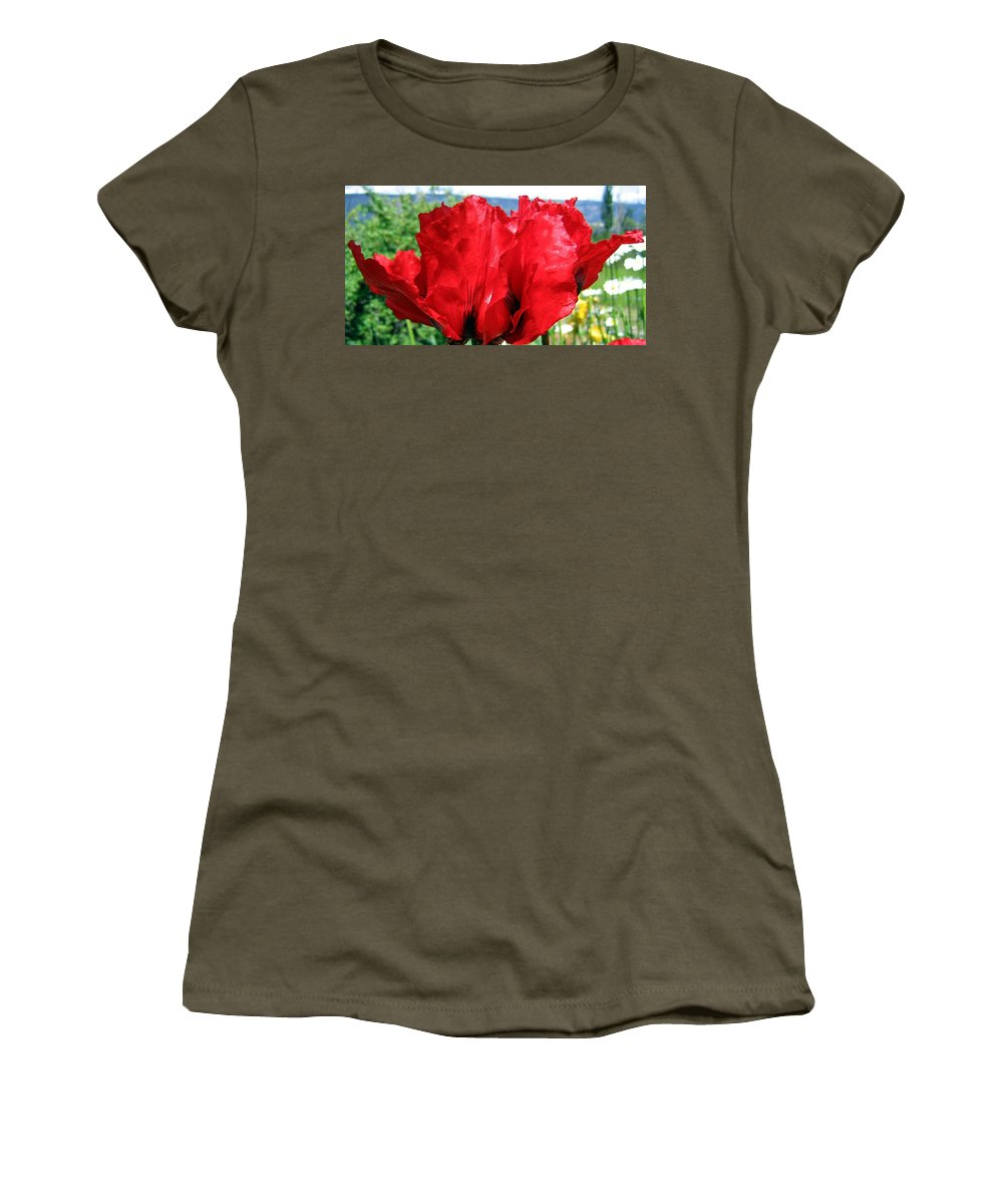 Poppies Women's T-Shirt featuring the photograph Poppies Plus by Will Borden