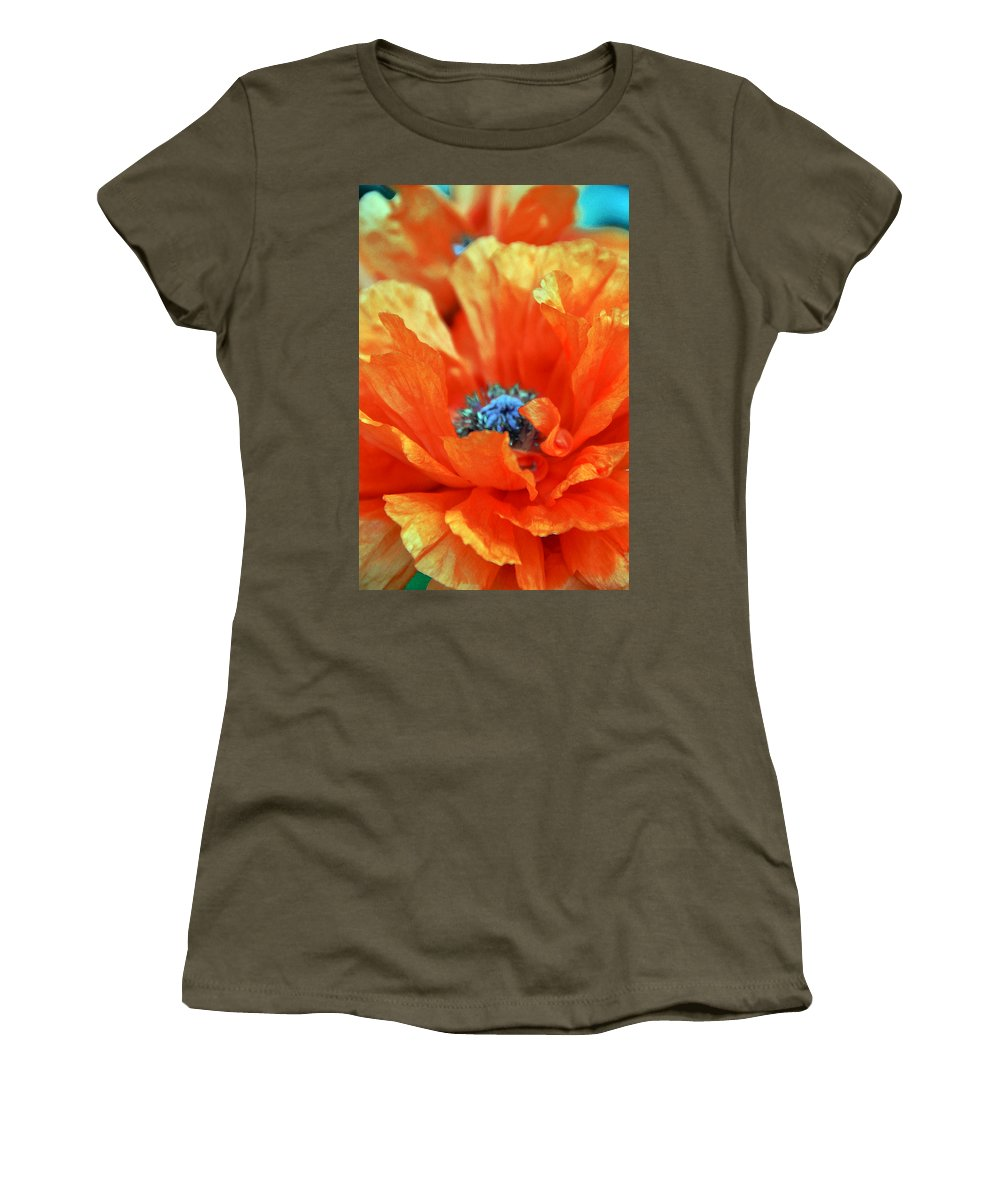 Papaver Somniferum. Opium Women's T-Shirt featuring the photograph Poppy by Angelina Vick