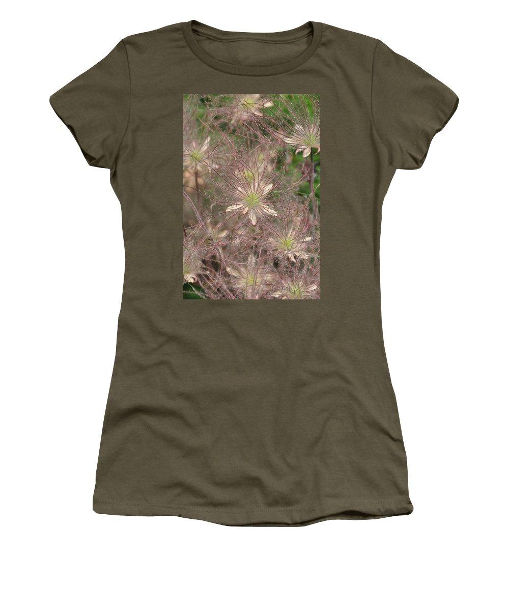 Flower Women's T-Shirt featuring the photograph Prarie Smoke 2 by Rich Bodane