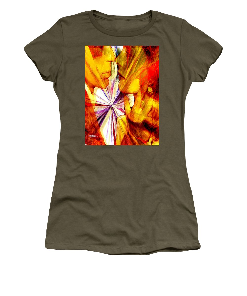 Prelude To A Kiss Women's T-Shirt featuring the photograph Prelude To A Kiss by Seth Weaver