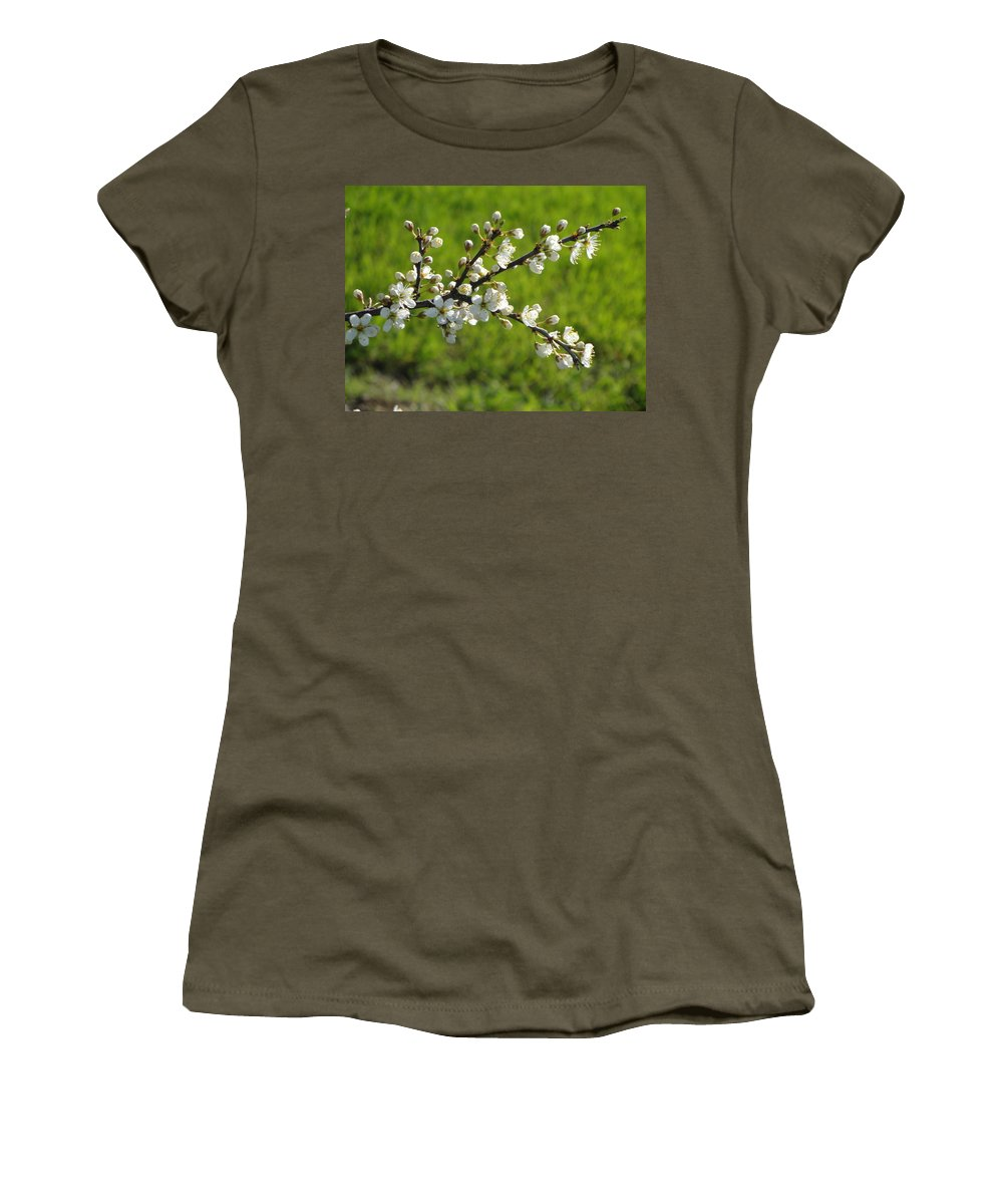 Flora Women's T-Shirt (Athletic Fit) featuring the photograph Pride Of The Hedgerow by Susan Baker