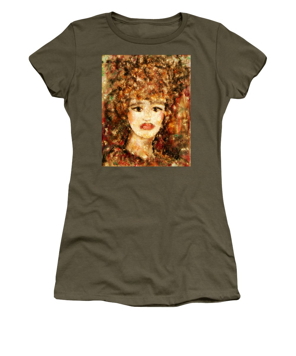 Female Women's T-Shirt featuring the painting Proud Sarah by Natalie Holland