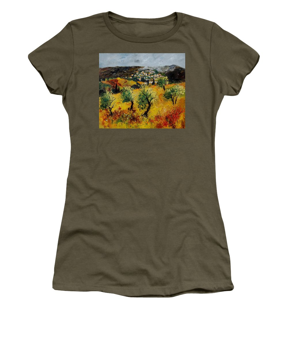 Provence Women's T-Shirt featuring the painting Provence 789080 by Pol Ledent