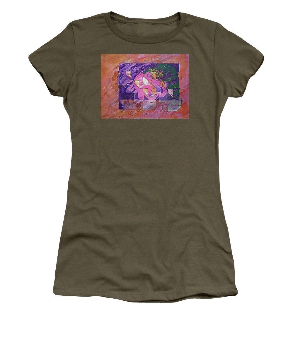 Psycho Women's T-Shirt featuring the painting Psycho Pattern by Charles Stuart