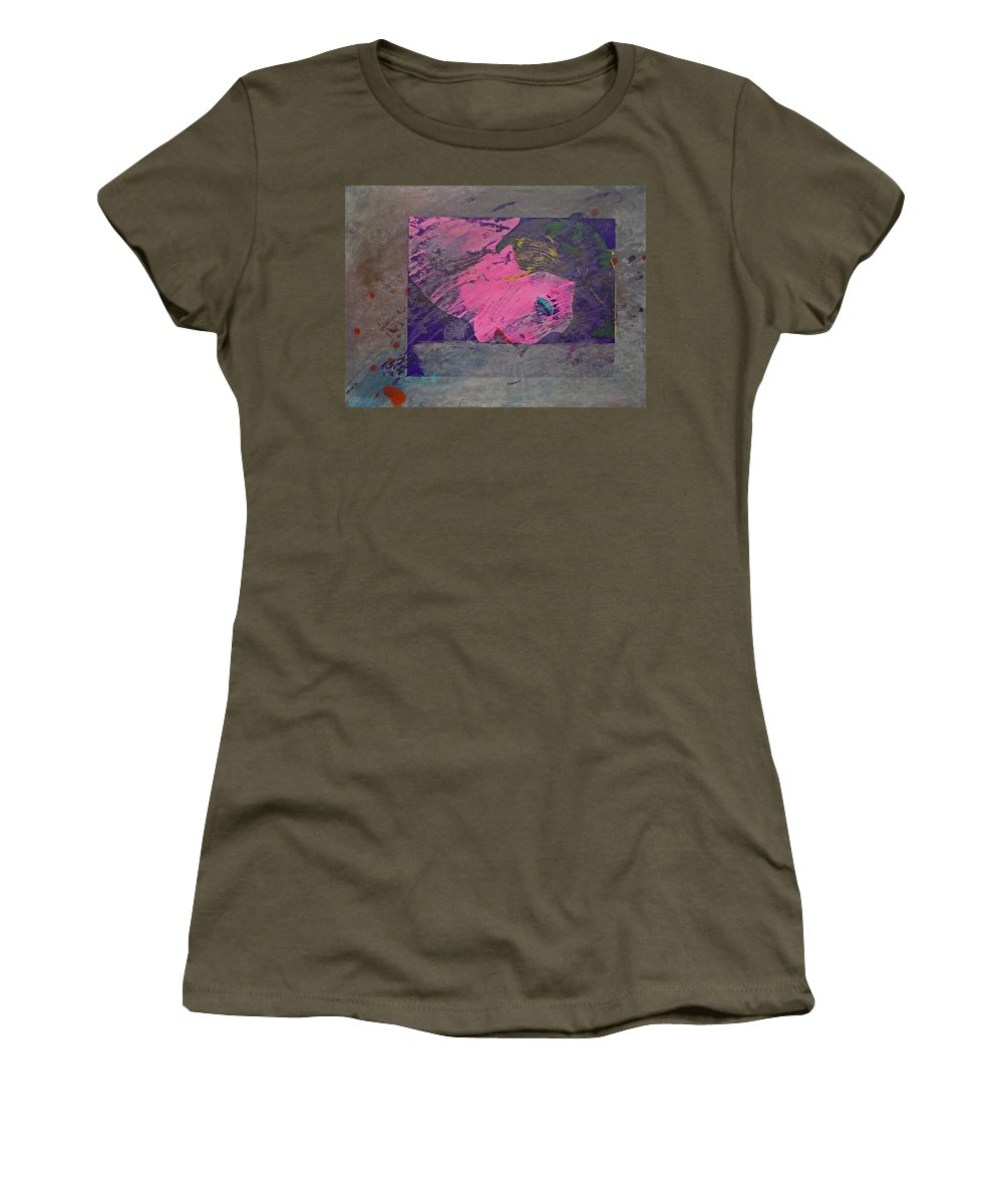 Psycho Women's T-Shirt featuring the mixed media Psycho Warhol by Charles Stuart