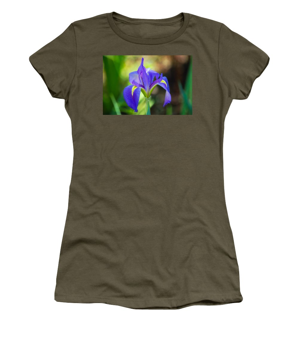 Iris Women's T-Shirt featuring the photograph Pure Simple Beautiful by Rich Leighton