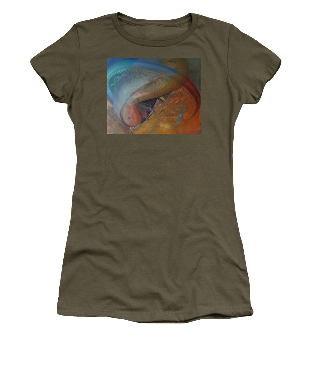 Women's T-Shirt (Athletic Fit) featuring the painting Purge by Gordon Daugherty
