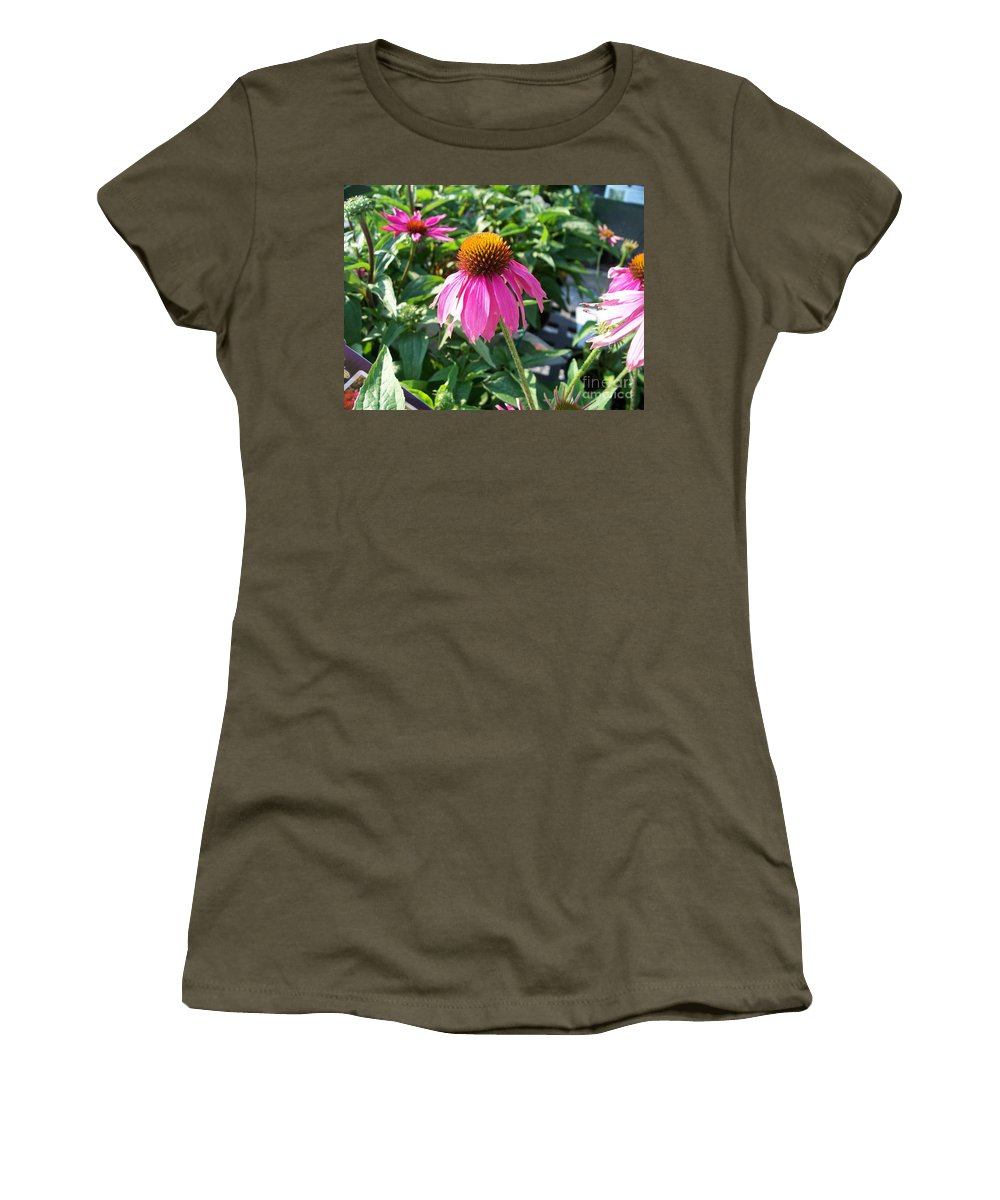 Floral Women's T-Shirt (Athletic Fit) featuring the photograph Purple Flower by Eric Schiabor