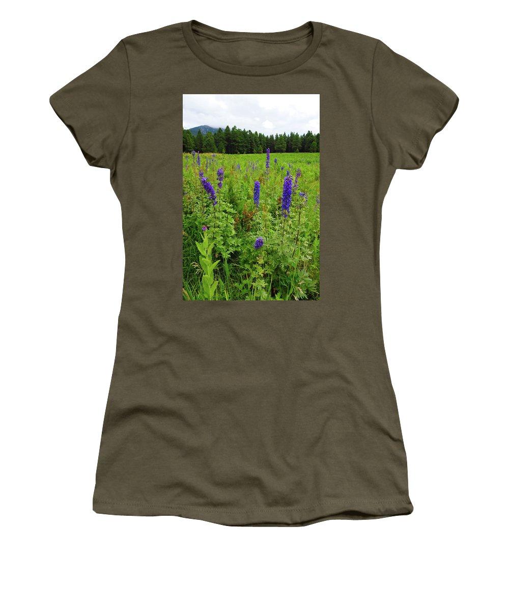 Flowers Women's T-Shirt featuring the photograph Purple Flowers by Scott Sawyer
