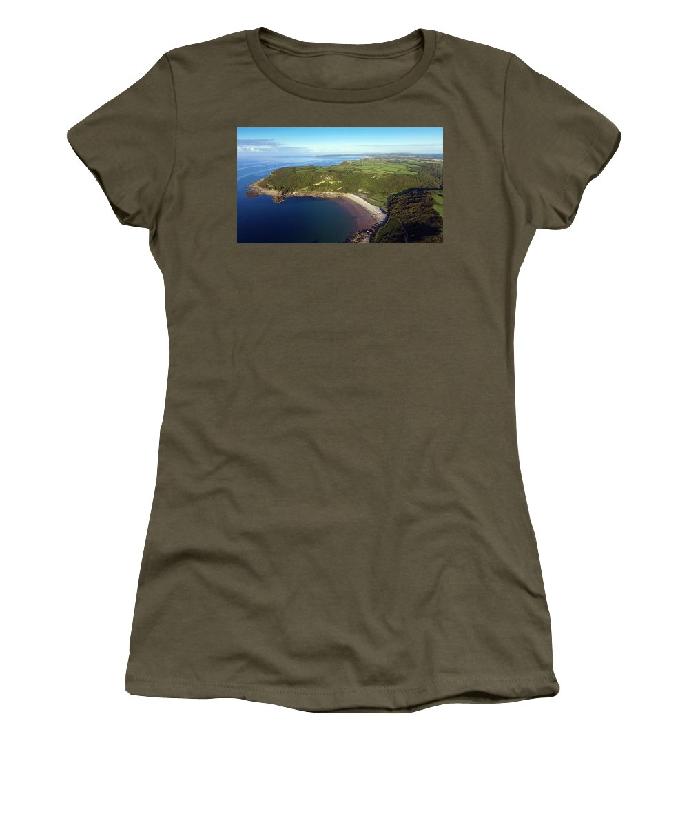 Pwll Du Bay Women's T-Shirt featuring the photograph Pwll Du Bay Swansea by Leighton Collins