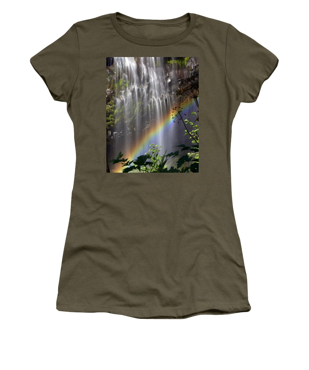 Waterfall Women's T-Shirt (Athletic Fit) featuring the photograph Rainbow Falls by Marty Koch