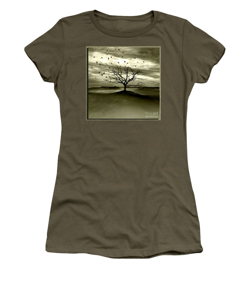Landscape Women's T-Shirt (Athletic Fit) featuring the photograph Raven Valley by Jacky Gerritsen