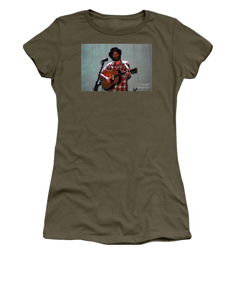 Ray Lamontagne Women's T-Shirt (Athletic Fit) featuring the photograph Ray Lamontagne-9040 by Gary Gingrich Galleries