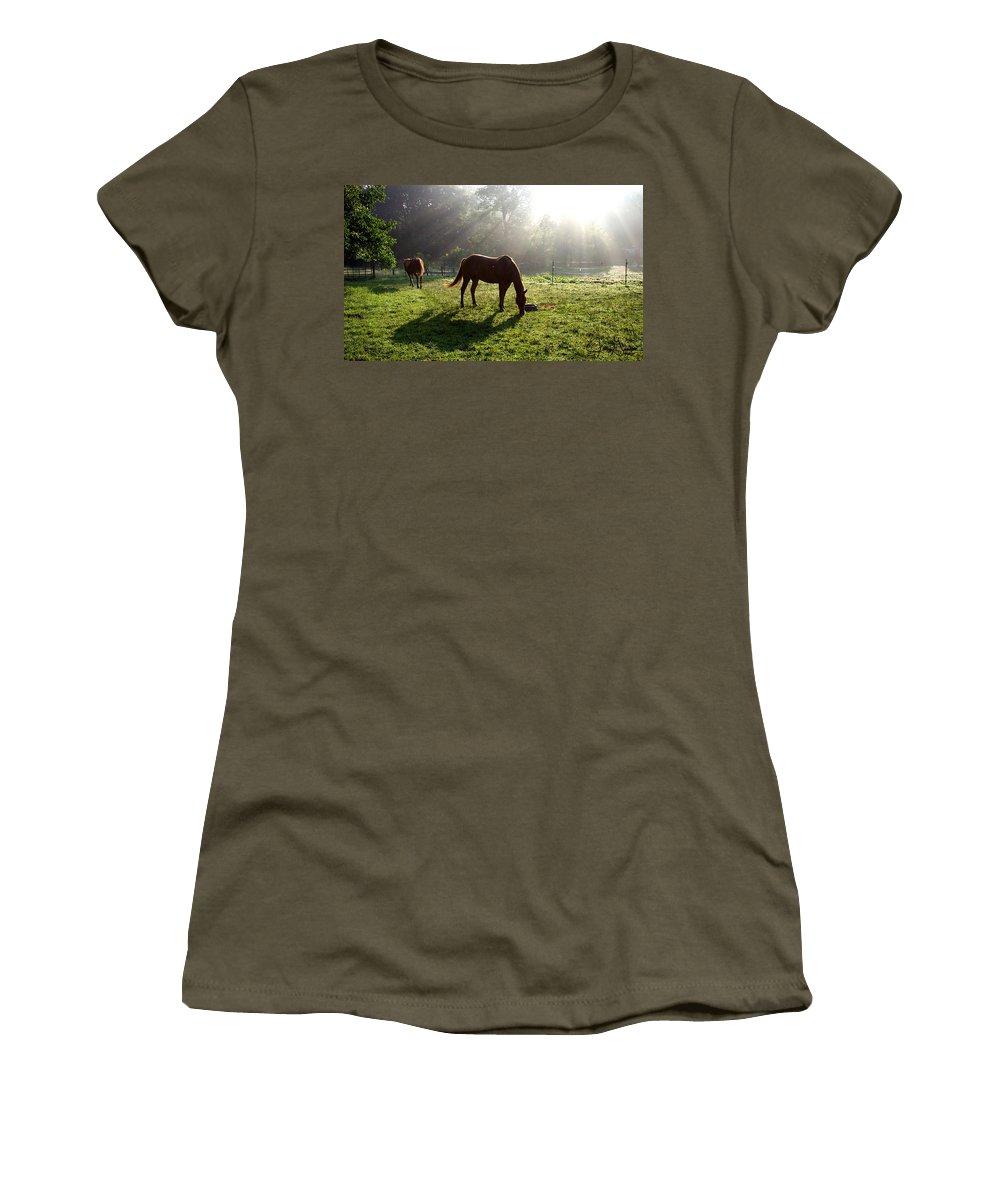 Gandert Women's T-Shirt featuring the photograph Rays From Heaven by Jenny Gandert