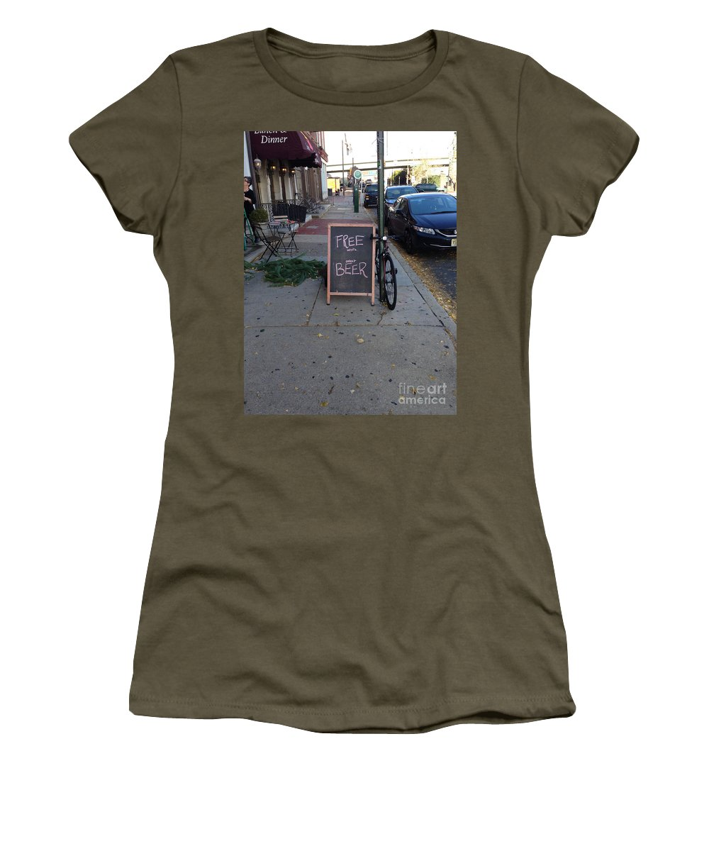 Ume Women's T-Shirt featuring the photograph Read The Fine Print by Bri Lou