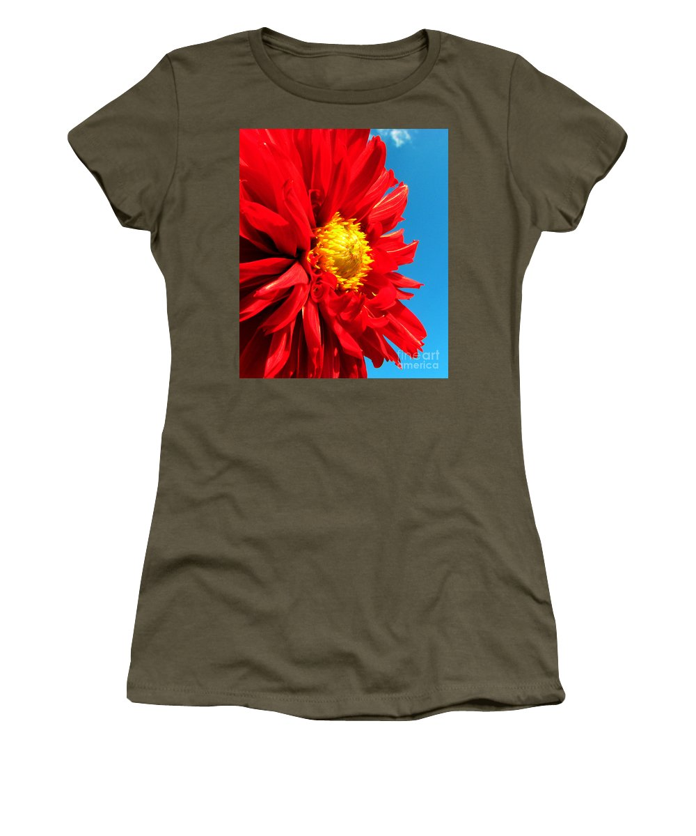 Dhalia Women's T-Shirt featuring the photograph Ready For The Future by Amanda Barcon