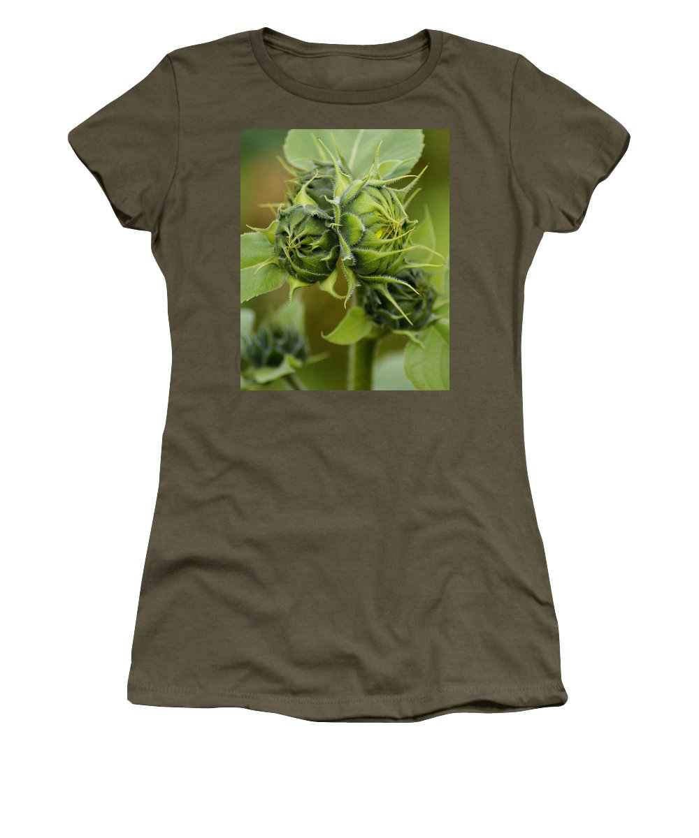 Flowers Women's T-Shirt featuring the photograph Ready For The Grand Opening by Ben Upham III