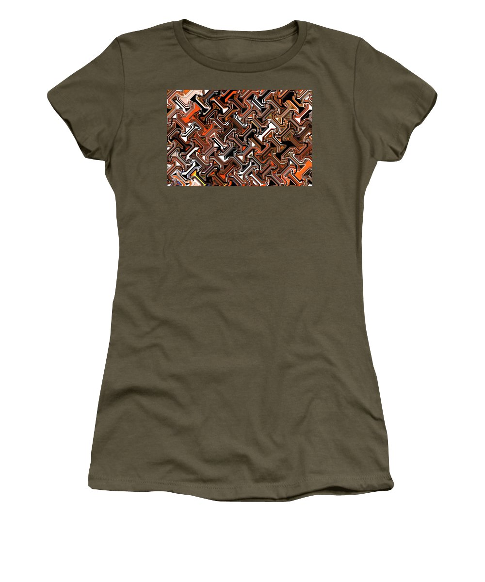 Recurring Pattern Abstract Women's T-Shirt featuring the digital art Recurring Pattern Abstract by Tom Janca