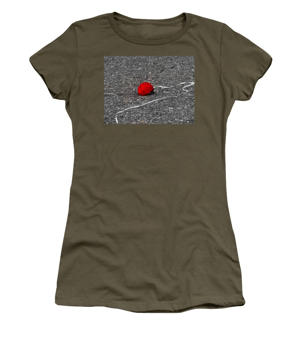 Balloon Women's T-Shirt featuring the photograph Red Balloon IIi by Gary Adkins