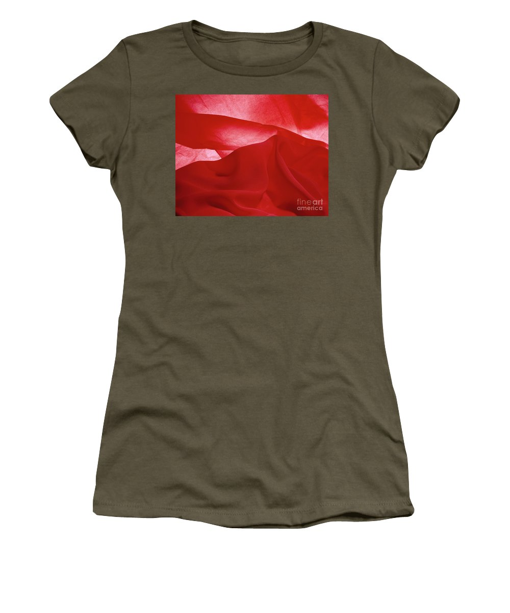 Abstract Women's T-Shirt featuring the photograph Red Mountain by Stefania Levi