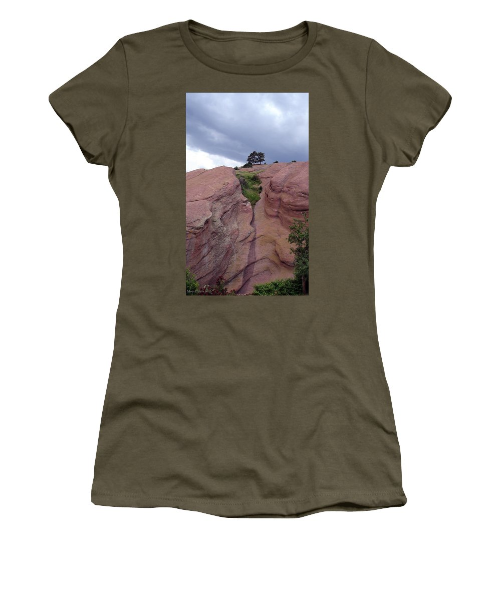 Red Rocks Women's T-Shirt featuring the photograph Red Rocks by Merja Waters