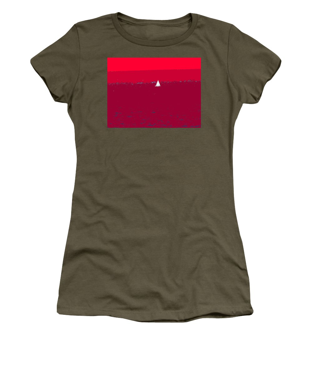 St Kitts Women's T-Shirt (Athletic Fit) featuring the photograph Red Sea by Ian MacDonald