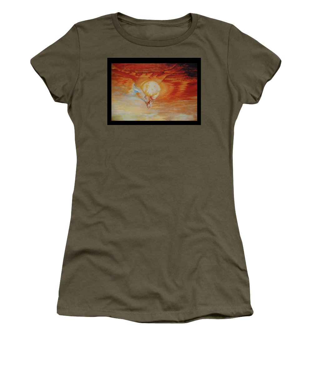 Angels Women's T-Shirt featuring the photograph Red Sky by Rob Hans