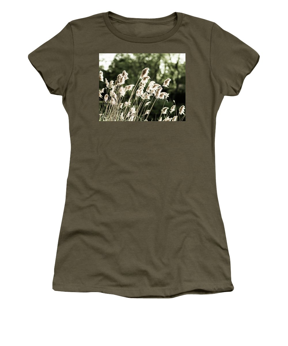 Olga Olay Women's T-Shirt featuring the photograph Reed by Olga Olay