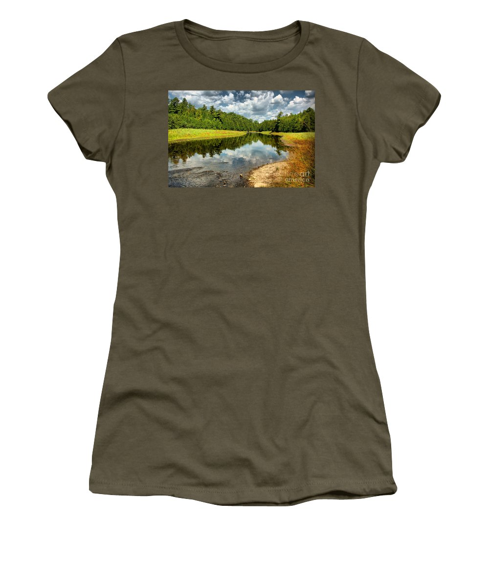 Cloud Women's T-Shirt (Athletic Fit) featuring the photograph Reflection Of Nature by Joe Ng